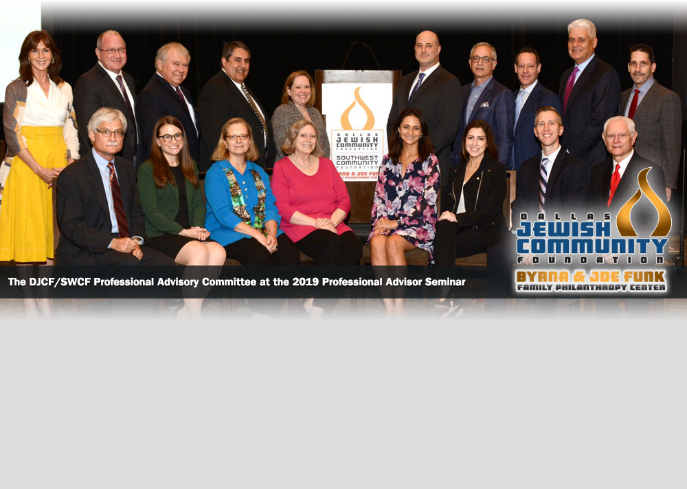 The DJCF/SWCF Professional Advisory Committee at the 2019 Professional Advisor Seminar